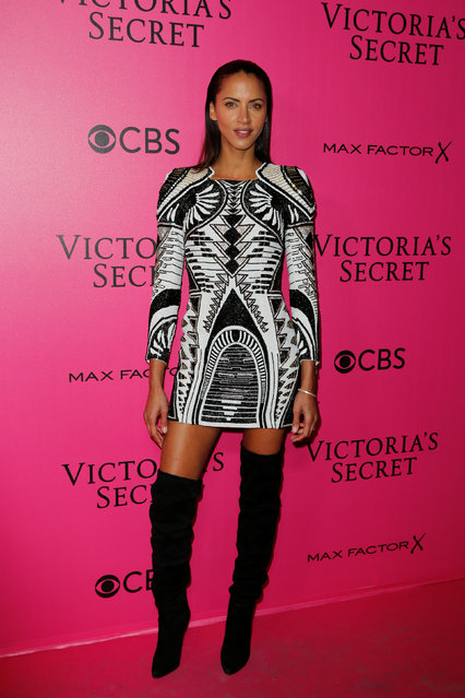 Model Noemie Lenoir poses during a photocall before the 2016 Victoria's Secret Fashion Show at the Grand Palais in Paris, France, November 30, 2016. (Photo by Benoit Tessier/Reuters)