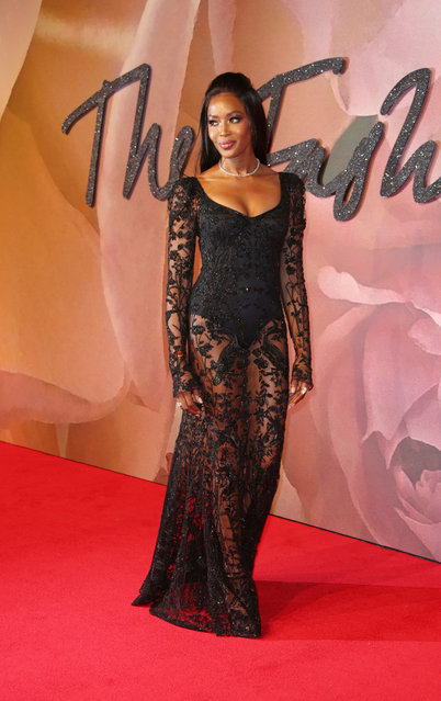 Model Naomi Campbell poses for photographers at the Fashion Awards in London, Monday, December 5, 2016. (Photo by Joel Ryan/Invision/AP Photo)