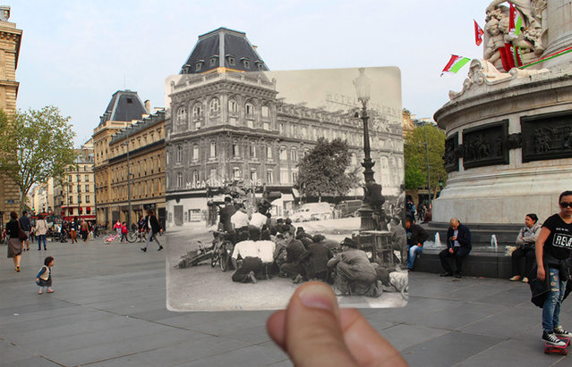 Place de la Republique in the 1940s. (Photo by Julien Knez/Caters News)