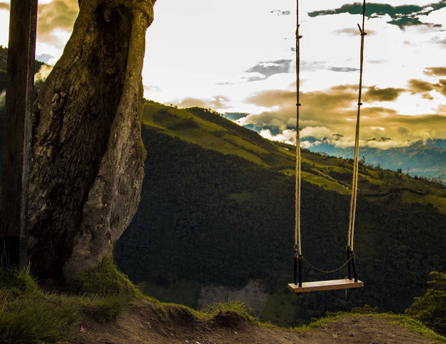 The Crazy Swing At Casa Del Arbol in Ecuador