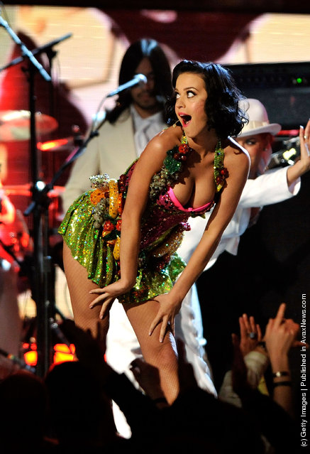Singer Katy Perry speaks during the 51st Annual Grammy Awards held at the Staples Center on February 8, 2009 in Los Angeles, California