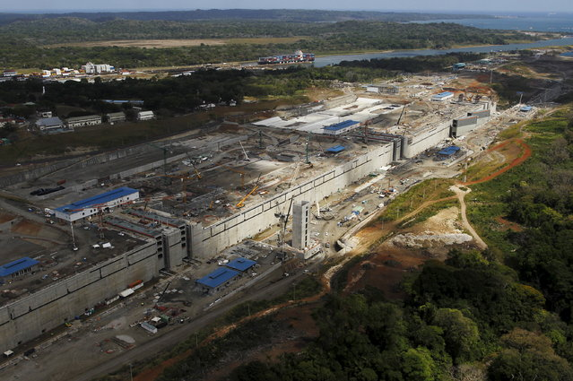 An aerial view of the construction site of the Panama Canal Expansion project is seen during an organised media tour, on the outskirts of Colon City March 23, 2015. (Photo by Carlos Jasso/Reuters)