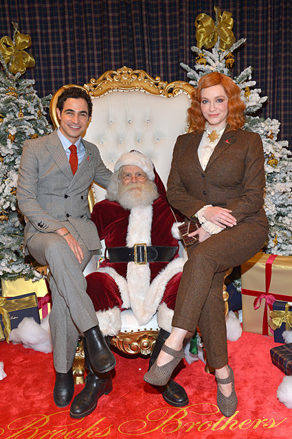 Zac Posen and Christina Hendricks attend the Brooks Brothers and St Jude Children's Research Hospital Annual Holiday Celebration at The West Hollywood Edition on December 07, 2019 in West Hollywood, California. (Photo by Donato Sardella/Getty Images for Brooks Brothers)