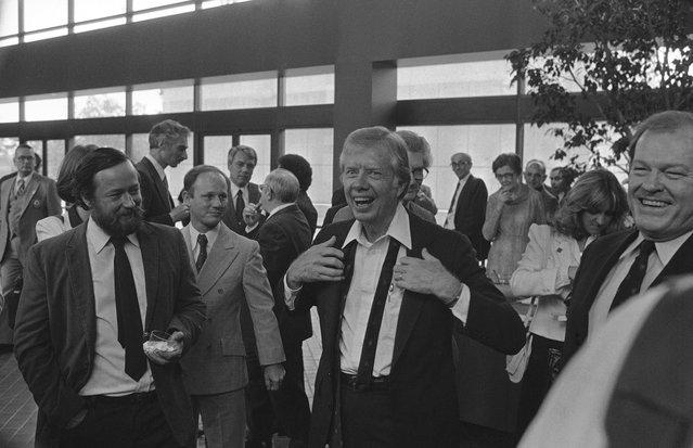 Jimmy Carter in Atlanta, 1982. (Photo by Charles Kelly/AP Photo)