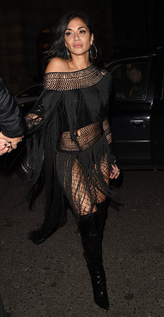 Nicole Scherzinger seen on a night out at Freedom club in Soho on December 09, 2019 in London, England. (Photo by Splash News and Pictures)