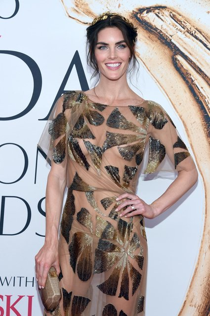 Hilary Rhoda arrives at the CFDA Fashion Awards at the Hammerstein Ballroom on Monday, June 6, 2016, in New York. (Photo by Evan Agostini/Invision/AP Photo)