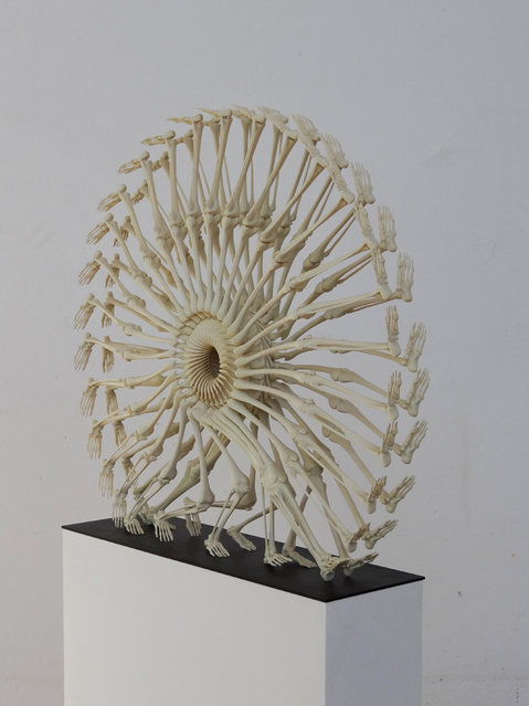 3D Prints The Wheel Of Llife Skeletal By Monika Horcicova