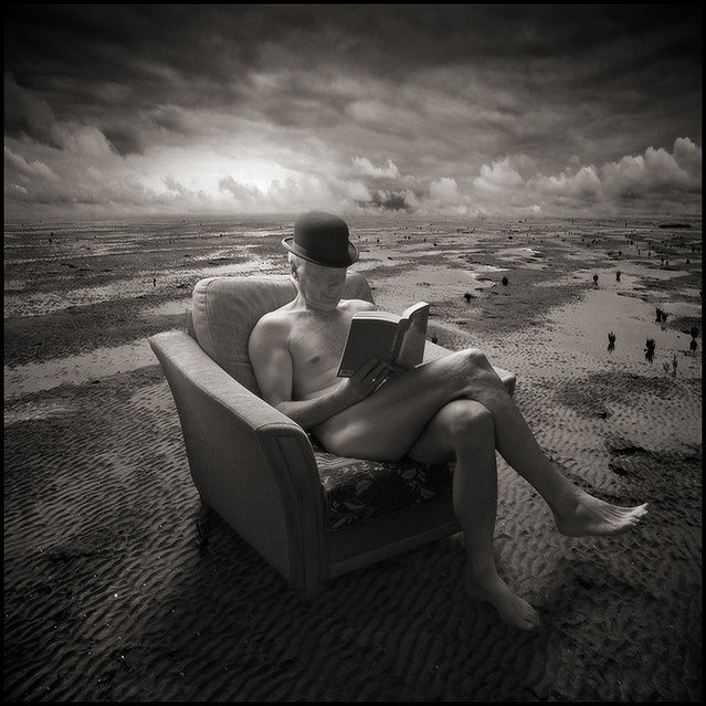 The Smiling Reader. Photo Art by Yves Lecoq