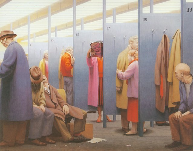 The Waiting Room. Artwork by George Tooker