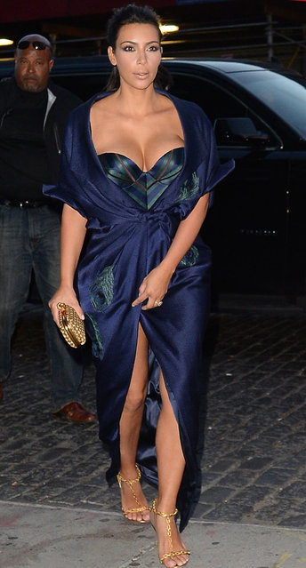 Kim Kardashian is seen in  meatpacking district on June 27, 2014 in New York City. (Photo by Raymond Hall/GC Images)