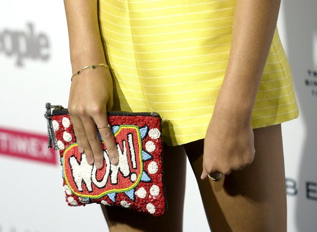 "Actress Maddie Ziegler holds her bag as she poses during People's ""Ones To Watch"" event celebrating Hollywood's rising and brightest stars in West Hollywood, California September 16, 2015. (Photo by Kevork Djansezian/Reuters)"