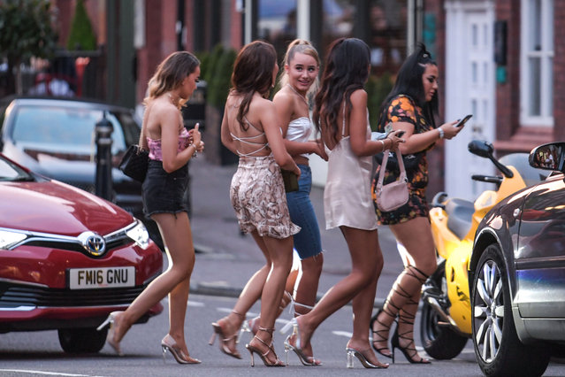 One of the busiest areas in Birmingham, United Kingdom last night was Ludgate Hill in the city's Jewellery Quarter. Brits enjoying the hottest August day for almost 20 years spilled out of packed pubs on August 7, 2020 after sunbathing on beaches around the country as the mercury rose to 36.4C. (Photo by SnapperSK/The Sun)