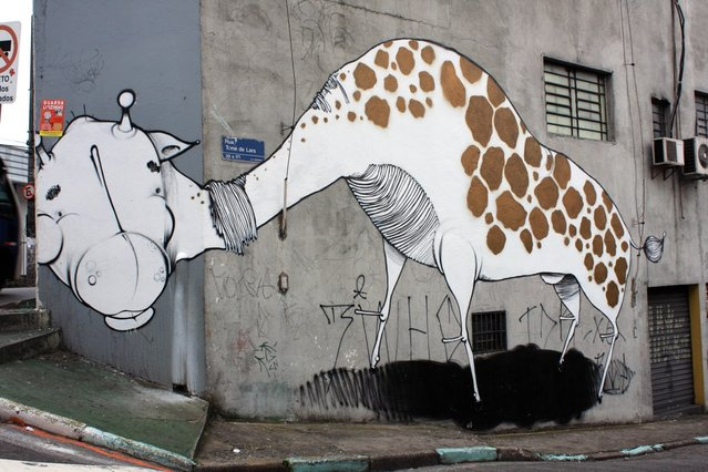 """ONESTO. Completando a trilogia """"Animais de Concreto"""" Tucuruvi – São Paulo, 2011. (Photo by Fernando Gomes)"""
