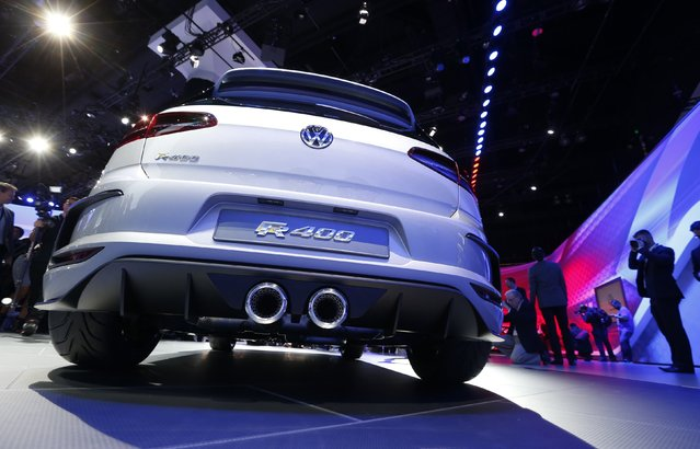 The Volkswagen Golf R400 concept car on show at the Los Angeles Auto Show in California, November 19, 2014. (Photo by Mario Anzuoni/Reuters)