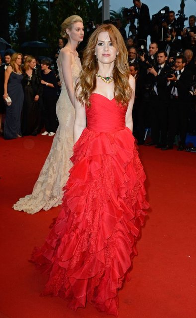 """Isla Fisher attends the Opening Ceremony and """"The Great Gatsby"""" Premiere during the 66th Annual Cannes Film Festival at the Theatre Lumiere on May 15, 2013 in Cannes, France. (Photo by Pascal Le Segretain/Getty Images)"""