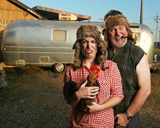 """""""An Afternoon with Gertie and Goober at their Airstream Trailer in Oklahoma"""". (Photo by Studio d'Xavier)"""
