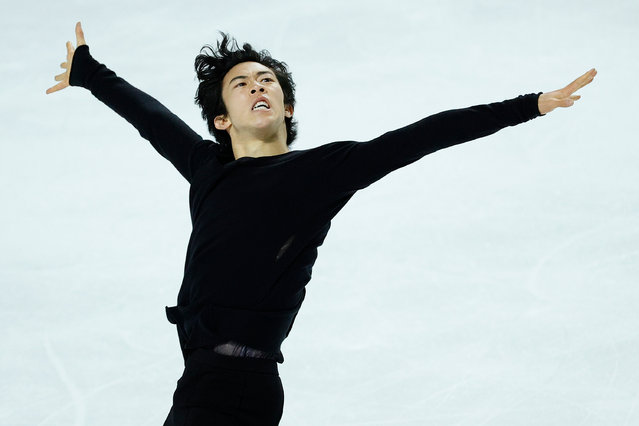 Nathan Chen competes in the men's free skate program during the U.S. Figure Skating Championships at the Orleans Arena on January 17, 2021 in Las Vegas, Nevada. (Photo by Tim Nwachukwu/Getty Images)