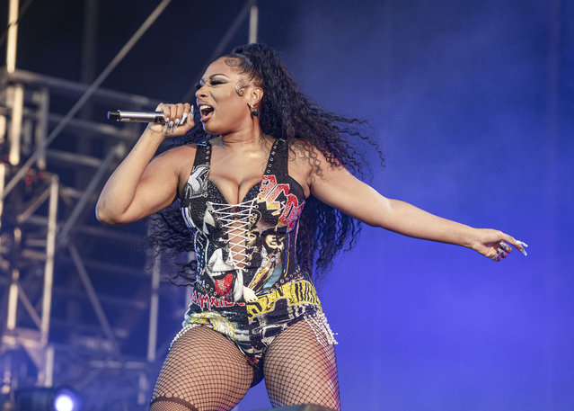 Rapper Megan Thee Stallion performs on day 3 of Lollapalooza at Grant Park on July 31, 2021 in Chicago, Illinois. (Photo by Scott Legato/Getty Images)