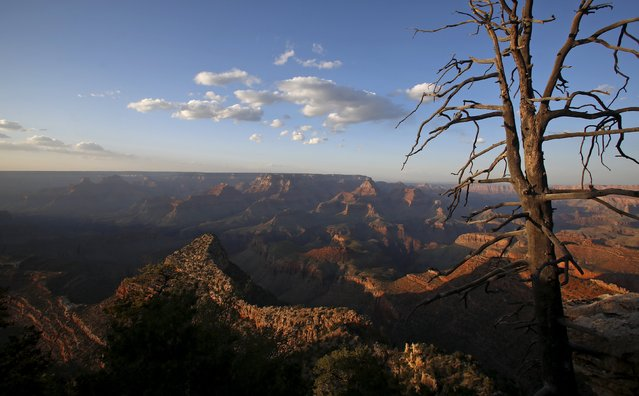 The sun sets at Grand Canyon National Park in northern Arizona, April 14, 2015. (Photo by Jim Urquhart/Reuters)