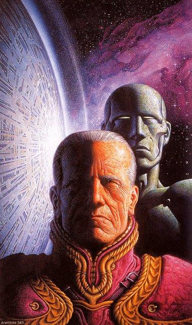 Cover for The Foundation Series by Asimov (Mondadori, Italy). Artwork by Oscar Chichoni