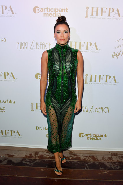 Eva Longoria attends the HFPA & Participant Media Honour Help Refugees' during the 72nd annual Cannes Film Festival on May 19, 2019 in Cannes, France. (Photo by George Pimentel/WireImage)
