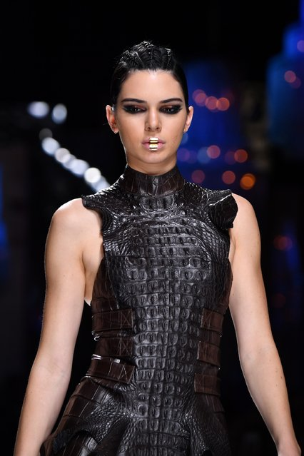 Kendall Jenner walks the runway during the Balmain show as part of the Paris Fashion Week Womenswear Fall/Winter 2017/2018  on March 2, 2017 in Paris, France. (Photo by Pascal Le Segretain/Getty Images)