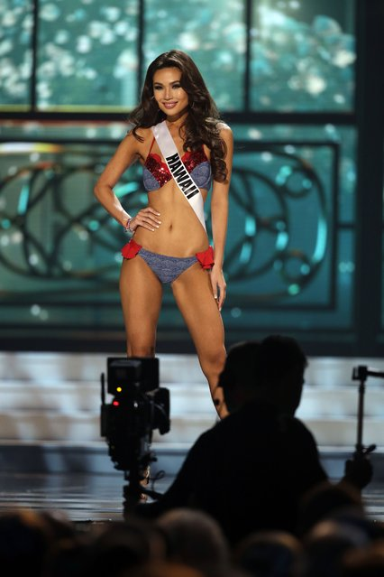 Miss Hawaii, Emma Wo, competes in the bathing suit competition during the preliminary round of the 2015 Miss USA Pageant in Baton Rouge, La., Wednesday, July 8, 2015. (Photo by Gerald Herbert/AP Photo)