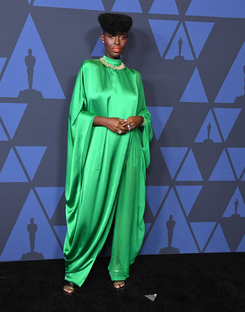 Jodie Turner-Smith arrives at the Academy Of Motion Picture Arts And Sciences' 11th Annual Governors Awards at The Ray Dolby Ballroom at Hollywood & Highland Center on October 27, 2019 in Hollywood, California. (Photo by Steve Granitz/WireImage)