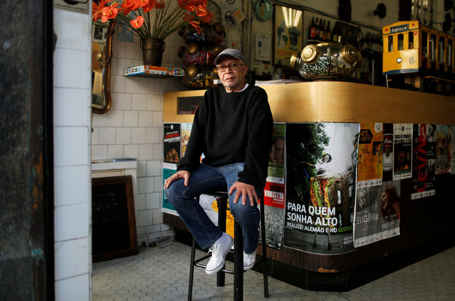 """Diogenes Paixao, a bar owner, poses for a portrait in Rio de Janeiro, Brazil, July 15, 2016. When asked what he felt about Rio de Janeiro hosting the Olympics, Diogenes said, """"The Olympics will bring many tourists looking for fun and entertainment, I am only concerned about security on the streets"""". (Photo by Pilar Olivares/Reuters)"""