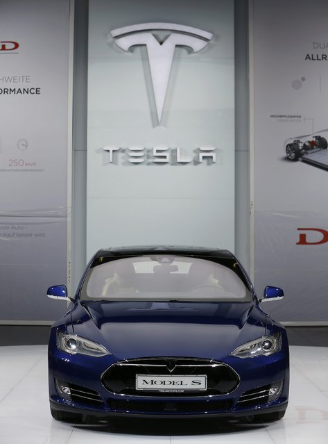 A Tesla Model S car is pictured during the media day at the Frankfurt Motor Show (IAA) in Frankfurt, Germany, September 14, 2015. (Photo by Kai Pfaffenbach/Reuters)