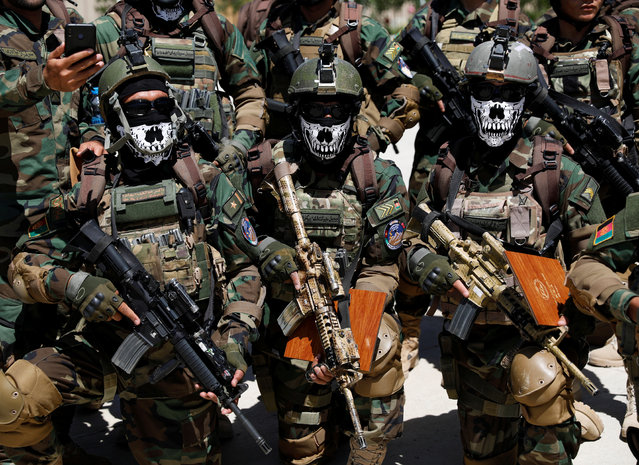 Afghan Special Forces attend their graduation ceremony in Kabul, Afghanistan on June 17, 2020. (Photo by Mohammad Ismail/Reuters)