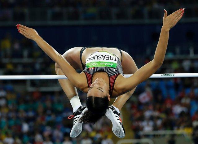 Canada's Alyxandria Treasure competes in the women's high jump final, August 20, 2016. (Photo by Matt Slocum/AP Photo)