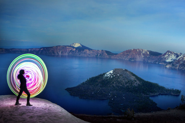Magnificent pictures taken by Grant Mallory at Crater Lake. (Photo by Grant Mallory/Caters News)