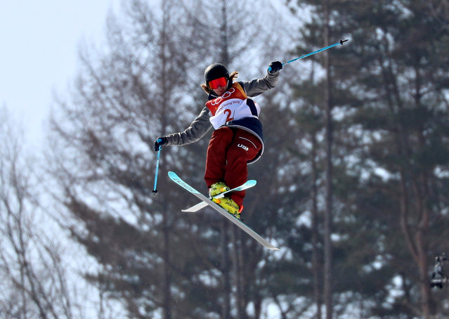 US David Wise competes in a run of the men' s ski halfpipe final during the Pyeongchang 2018 Winter Olympic Games at the Phoenix Park in Pyeongchang on February 22, 2018. (Photo by Mike Blake/Reuters)