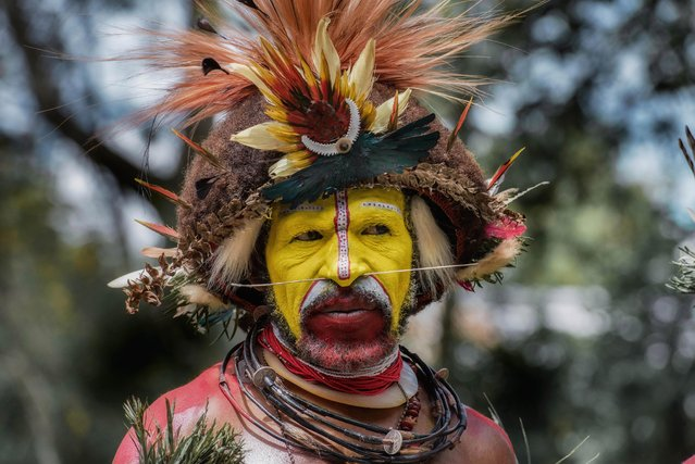 There around 65,000 Huli tribesmen living in the Tari Basin of Papua New Guinea. (Photo by Trevor Cole/Media Drum World)