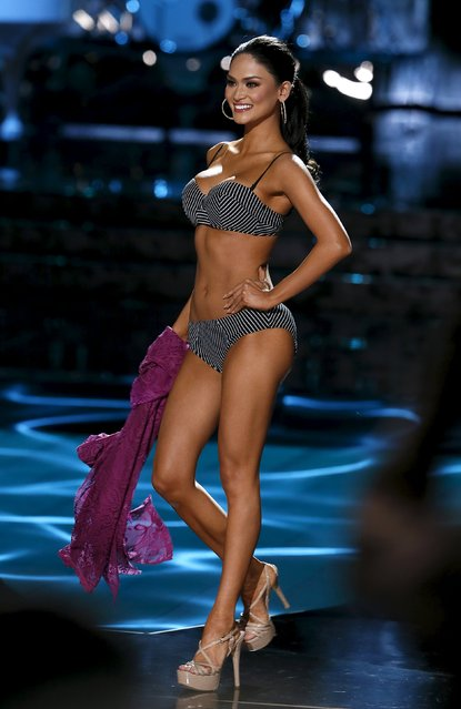 Miss Philippines Pia Alonzo Wurtzbach competes in the swimsuit competition during the 2015 Miss Universe Pageant in Las Vegas, Nevada December 20, 2015.  Wurtzbach was later crowned Miss Universe. (Photo by Steve Marcus/Reuters)