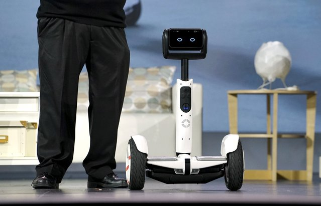 A yet-to-be-released Segway Ninebot personal transportation robot is seen onstage during the Intel keynote address at the Consumer Electronics Show in Las Vegas January 5, 2016. (Photo by Rick Wilking/Reuters)