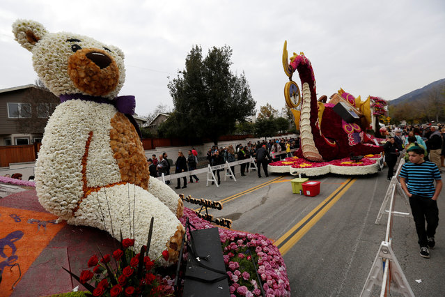 Floats which were featured in the 128th annual Rose Parade are pictured in Pasadena, California U.S., January 3, 2017. (Photo by Mario Anzuoni/Reuters)