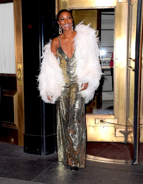 Gabrielle Union Channels Vintage Hollywood Glamour as she Parties with Husband Dwyane Wade after the Met Gala on May 7, 2019. Pictured: Gabrielle Union. (Photo by DIGGZY/Splash News and Pictures)