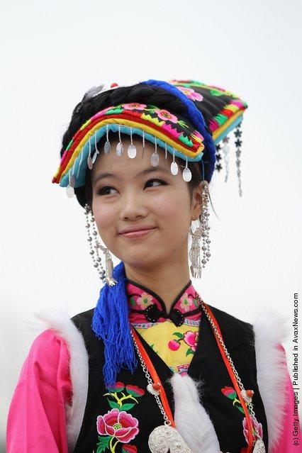 A Qiang ethnic minority woman