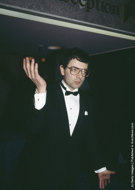 British comedian Rowan Atkinson attends the BAFTA awards at the Grosvenor House Hotel in London, 5th March 1985