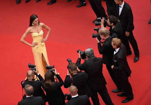 """Model Izabel Goulart attends the closing ceremony and """"Le Glace Et Le Ciel"""" (Ice And The Sky) Premiere during the 68th annual Cannes Film Festival on May 24, 2015 in Cannes, France. (Photo by Franck Robichon /Pool/Getty Images)"""