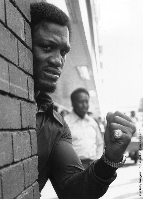 1973: The world heavyweight boxing champion Joe Frazier, before his fight with Joe Bugner