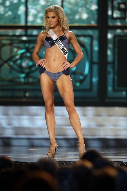 Miss Virginia, Laura Puleo, competes in the bathing suit competition during the preliminary round of the 2015 Miss USA Pageant in Baton Rouge, La., Wednesday, July 8, 2015. (Photo by Gerald Herbert/AP Photo)
