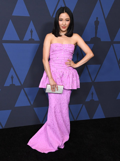 Constance Wu arrives at the Academy Of Motion Picture Arts And Sciences' 11th Annual Governors Awards at The Ray Dolby Ballroom at Hollywood & Highland Center on October 27, 2019 in Hollywood, California. (Photo by Steve Granitz/WireImage)