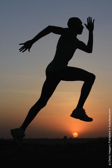 David Rudisha of Kenya 800m World record holder and World 800m champion during a training session
