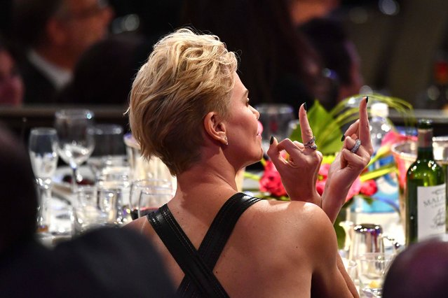 Charlize Theron attends the 33rd American Cinematheque Award Presentation Honoring Charlize Theron and The 5th Annual Sid Grauman Award Presented by Hill Valley to Adam Aron on behalf of AMC Theatres at The Beverly Hilton Hotel on November 08, 2019 in Beverly Hills, California. (Photo by Michael Buckner/Variety/Rex Features/Shutterstock)