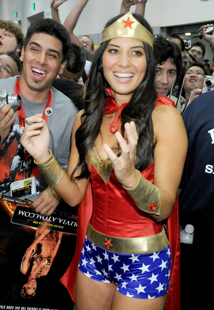 Olivia Munn arrives at the Comic-Con International: San Diego 2009 at the San Diego Convention Center in San Diego, California on July 25, 2009. (Photo by Gregg DeGuire/PictureGroup)