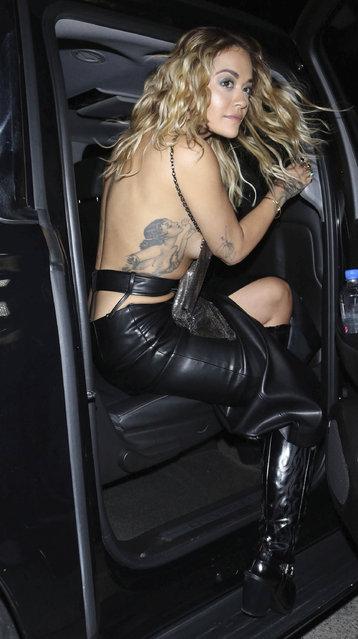 English singer Rita Ora is seen in Los Angeles, California, USA on February 26, 2020. (Photo by OGUT/STAR MAX/IPx/AP/SIPA Press)