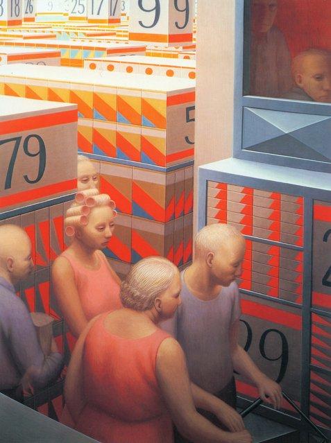 Supermarket. Artwork by George Tooker
